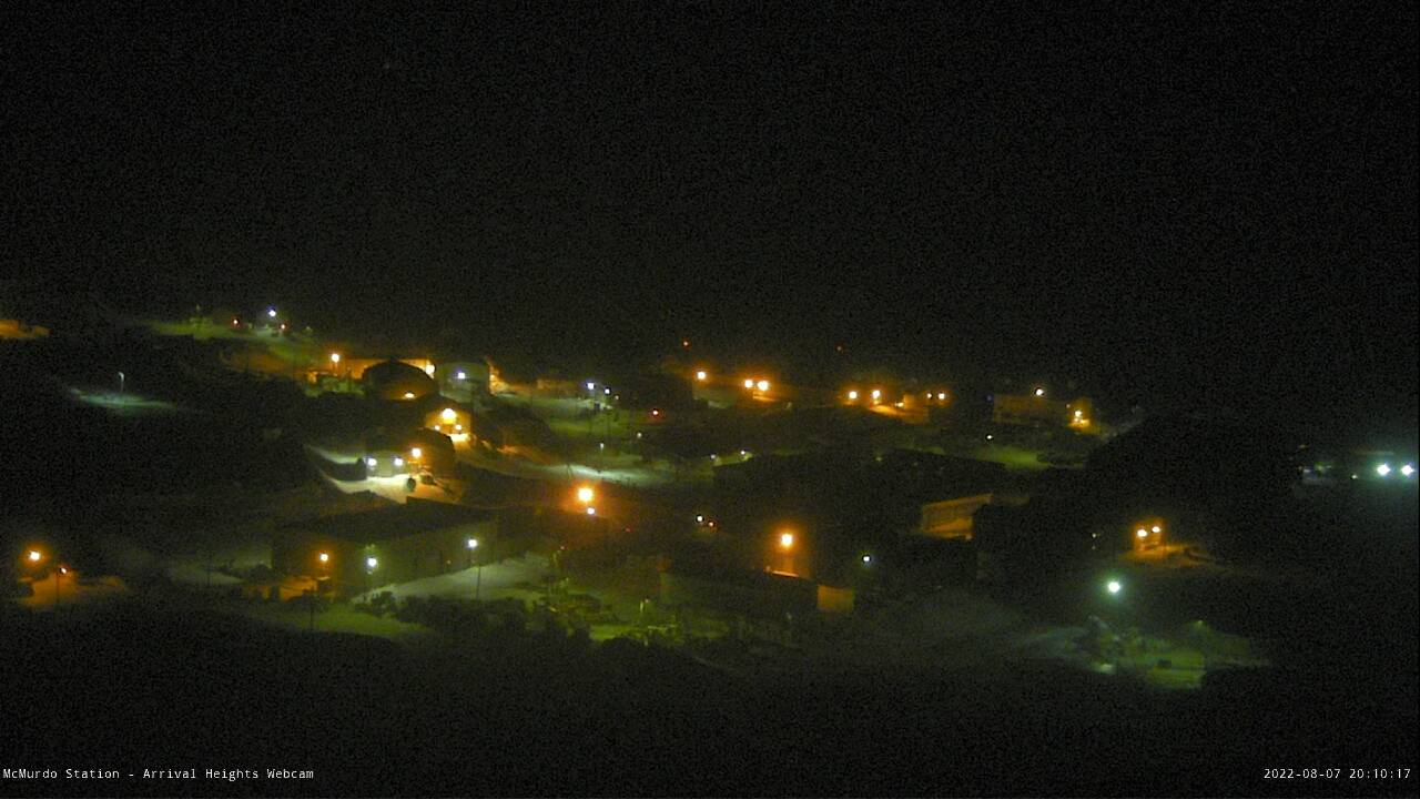 Courtesy of the U.S. Antarctic Program, the McMurdo Station cam!