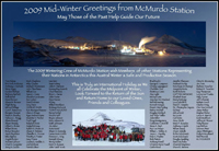 Midwinter greetings from McMurdo Station, Antarctica - June 2009