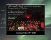 Midwinter Greetings from South Pole Station, Antarctica