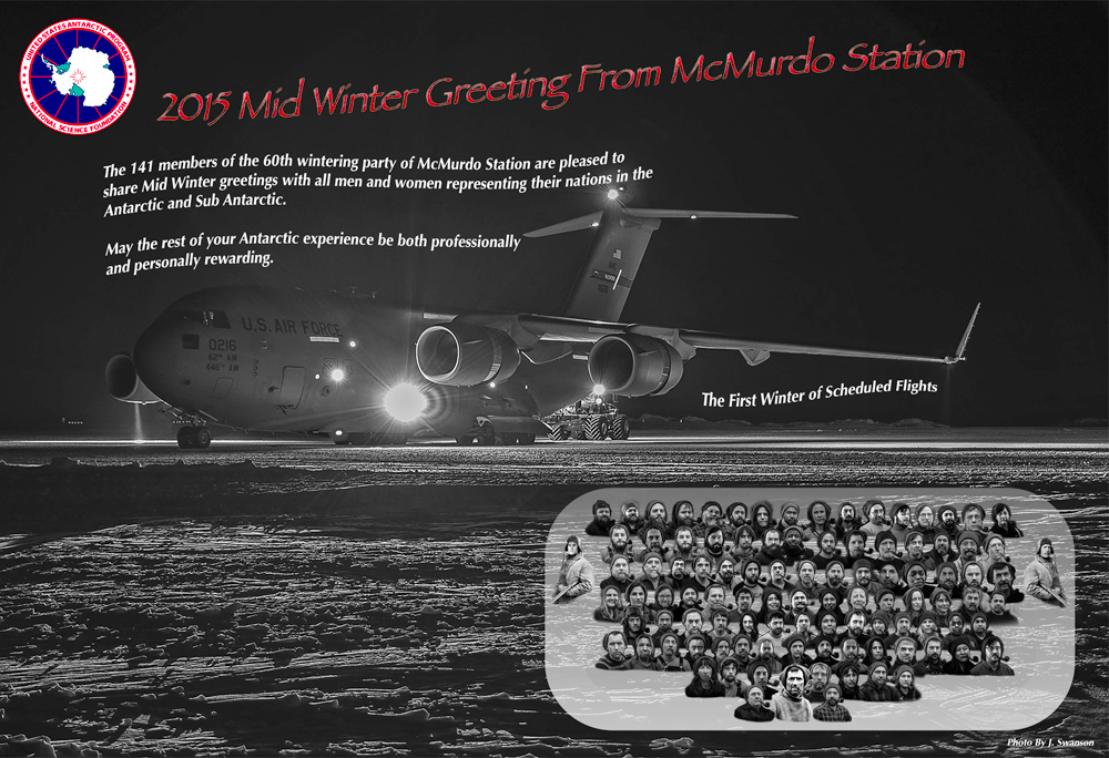 2015 Midwinter Greetings from McMurdo Station