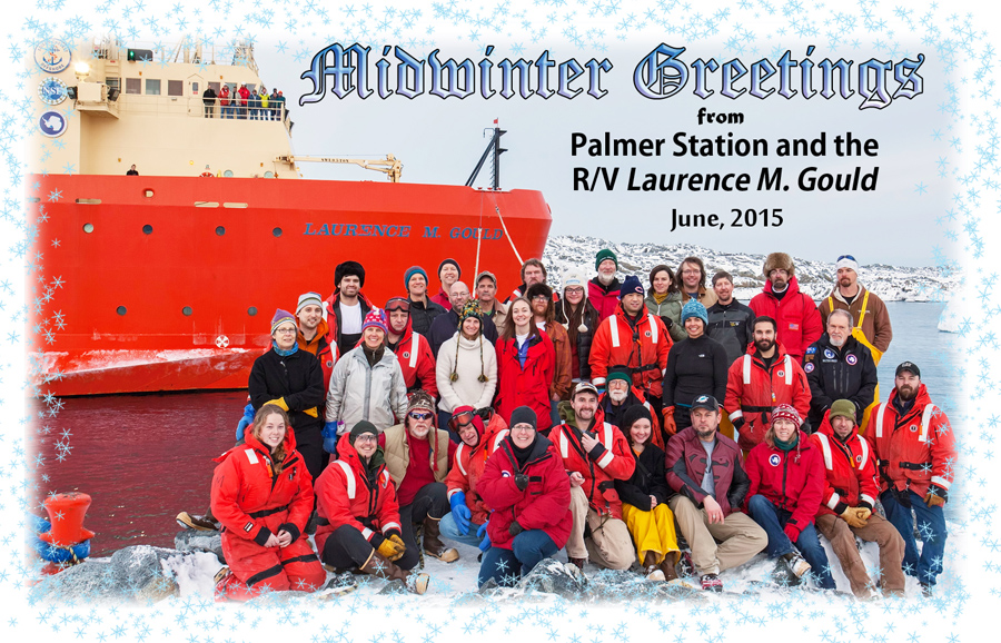 2015 Midwinter Greetings from Palmer Station.