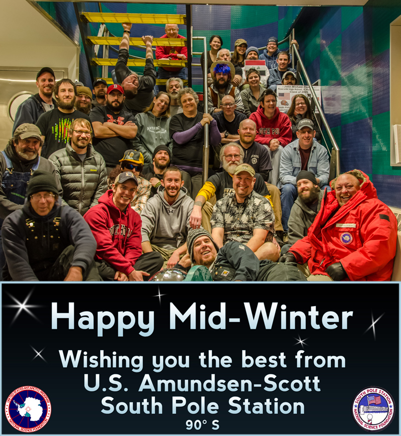 2015 Midwinter Greetings from South Pole Station.