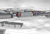 A site map of the proposed new McMurdo Station taken from the NSF Blue Ribbon Panel Report