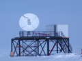 The 4-meter South Pole TDRSS Relay Antenna.