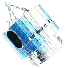 Artist's Rendition of the GOES-3 Satellite