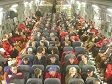 Program participants onboard a U.S. Air Force C-17A.