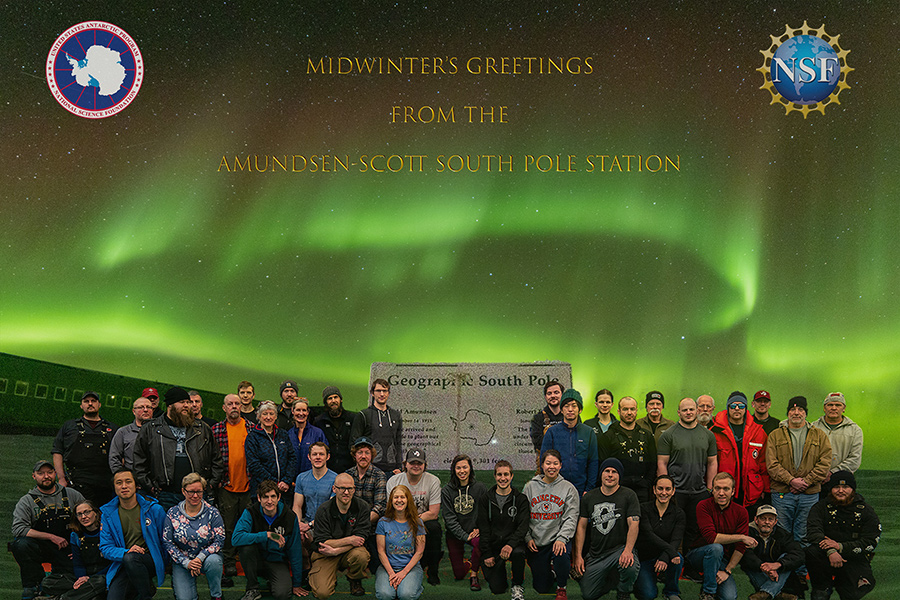 2019 Midwinter Greetings from South Pole Station