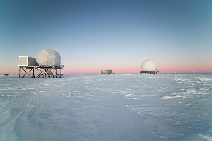 The 9 Meter Radome at Amundsen-Scott South Pole Station.