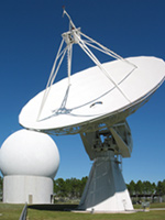 The 20-Meter dish used for Antarctic communications in Richmond, Florida.